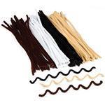 Chlupaté drátky bílé barvy 30 cm 1 ks