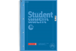 Student blok A4 CC, linka 80 listů spirála - azurový