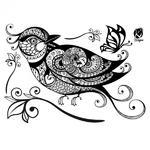 Samolepka na textil zažehlovací - 21x30 cm, OISEAUX - pták