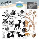 StampoClear Gelová razítka - Lesní zvířátka