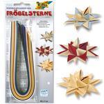 Dekorační papírové proužky pro výrobu hvězd - 35x1cm, 100ks