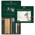 Faber-Castell Sada PITT Monochrome - 21 ks v kovové etui