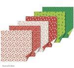List Origami Santa/strom červený 15x15cm - 30ks