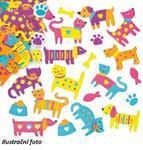 Pěnové samolepky - Kočka a pes, 100ks