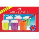 Faber-Castell Temperové barvy Fluorescent Colours 6 ks