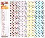 Výřez - Skládané rozety 3, malé, puntík, 8 ks