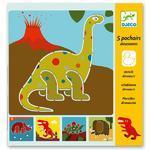 Djeco Šablony Dinosauři - 5ks