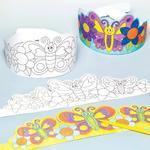 Papírová korunka - Květiny a motýlci, 8 ks
