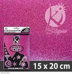 Nažehlovací fólie HOT FIX 15x20 cm glitrová - růžová