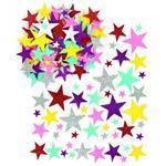 Třpytivé mosgumové samolepky - Hvězdičky, 150 ks