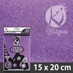 Nažehlovací fólie Hot-fix 15x20cm glitrová - fialová světlá
