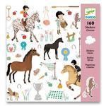 """Samolepky  """"Koně"""" - 160 ks"""
