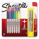 Permanentní popisovač Sharpie Fine - 12 barev + 2 metalické