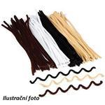 Chlupaté drátky přírodní barvy 30 cm 1 ks