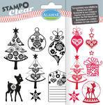 StampoClear Gelová razítka - Vánoce