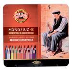 Mondeluz Akvarelové pastelky - 48 ks v plechu