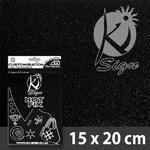 Nažehlovací fólie HOT FIX 15x20 cm glitrová - černá