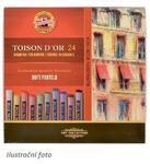 Křídy prašné umělecké Toison D´Or - kulaté 24 ks