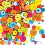 Knoflíky různých tvarů a barev,  500 ks