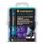 Sada stínovacích fixů Chameleon Color Tops - Studené tóny, 5ks