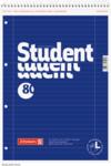 Student blok A4 pro leváky, linka 80 listů spirála - modrý