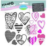 StampoClear Gelová razítka - Srdíčka