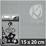 Nažehlovací fólie Hot-fix 15x20cm - sametová šedá