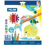 Pastelky MILAN Maxi šestihranné - 12 ks