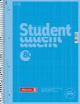 Student blok A4CC čtvereček 80 listů spirála - modrý