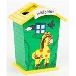Stojánek dětský  Žirafa se zeleným domem