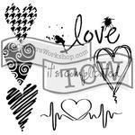 "Šablona TCW 12""x 12"" Complicated Hearts"