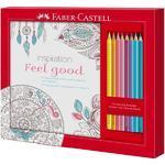 "Faber-Castell Sada ""Feel Good"" - 8ks pastelek + kniha s motivy"