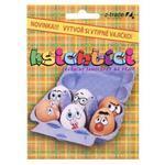 Samolepky na vajíčko - Ksichtíci