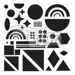 """Šablona TCW 12""""x 12"""" , Shapes"""