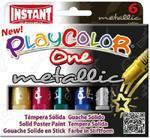 Playcolor Kids - Tuhé temperové barvy Metallic /6ks/