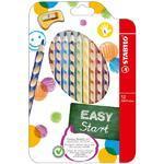 Stabilo EASYcolors Pastelky pro leváky - sada  12ks + ořezávátko
