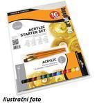 Daler & Rowney Simply Acrylic Starter Set - 12x12ml + 3 štětce + plátno