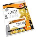 Daler & Rowney Simply Acrylic Starter Set - 12x12ml + 3 štětce
