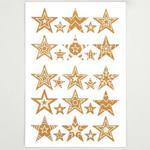 Korkové samolepky - Vánoční hvězdy, 50 ks