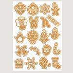 Korkové samolepky - Vánoční motivy - 40 ks