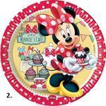 Papírové talíře 23 cm, 8 ks - Minnie's Cafe 23