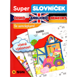Super slovníček - česko - anglicko - německý se samolepkami
