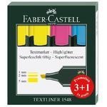 Faber-Castell  Zvýrazňovače 1548  Sada 3+1