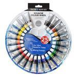 Daler & Rowney Simply Gouache Colour Wheel - 24x12ml + paleta