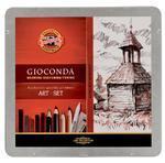 Gioconda Art set Kreslířská sada - 24 ks v kovové kazetě