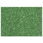 Moosgumi s glitry 20x30 cm, 2 mm - zelená tmavá