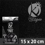 Nažehlovací fólie Hot-fix 15x20cm glitrová - černá