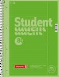 Student blok A4 CC, linka 80 listů spirála - zelený