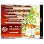 Trojhranné pastelky Triocolor silné - 24 ks přírodní