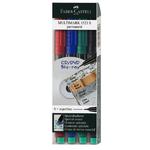 Faber-Castell MULTIMARK Permanent S   Popisovač CD/DVD - 4 ks